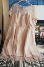 BNWT Lindy Bop Plus Size 26 Pale Rose/Gold Spotted Prom Evening Wedding Dress