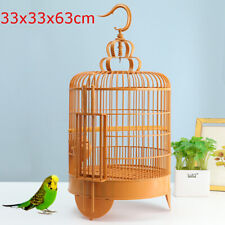 Retro Square Travel Cage Plastic Hanging Nest House for Small Birds Parrot Pet