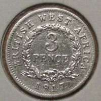 British West Africa 3 pence 1917, SILVER!