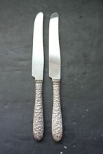 NATIONAL SILVER NARCISSUS SET 2 DINNER KNIVES KNIFE
