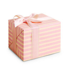 10 sheets Kids, Jewelry, Baby shower Gift wrapping paper : Sweet Pink Stripe