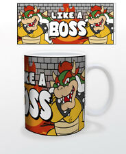 SUPER MARIO LIKE A BOSS 11 OZ MUG NINTENDO VIDEO GAMES CLASSIC TOAD YOSHI BOWSER
