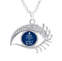 16mm Doctor Who Keep Calm and Don't Blink Noosa Snap Crystal Evil Eyes Necklace