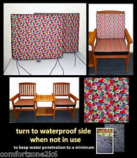 ZIPPY FLORAL DINING CHAIR CUSHION SEAT PAD - 50 X 44 - HOME & GARDEN FURNITURE