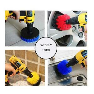 Set Of 3 Drill Cleaning Tool Attachment Brush Kit Combo Bath Tile Cleaner