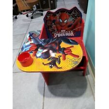Kids Desk and Chair Set Spider Man Toddler Table Storage Bin Children Furniture