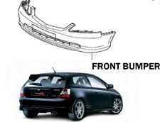 New! GENUINE Honda Civic EP3 FACELIFT Front Bumper PAINTED NIGHTHAWK BLACK B92P