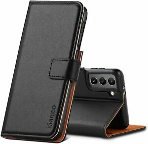 Premium Protective Wallet Card Flip PU Leather Case for Samsung Galaxy S21-Black