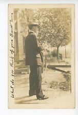 """What Do You Think of Your Grandson?"" Pueblo CO RPPC Antique Hat Photo 1910"