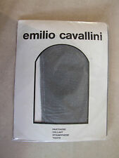 Vintage Emilio Cavallini BNIP M Grey & Silver Bling Fleck Elegant Party Tights