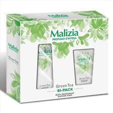 (37,25€/L) Malizia Geschenkset für Damen Green Tea Deo & Duschgel Grüner Tee