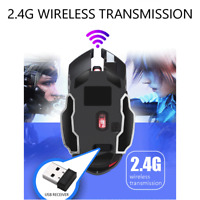 Warwolf Q8 kabellose Gaming-Maus mit 6 Tasten und USB ReceiverBacklight Mice