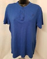 Aeropostale Mens Blue Henley Shirt Size S