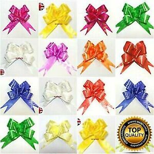 100pc Pull Bows 30mm Large Small Gift Wrap Florist Ribbon Wedding Car Decoration