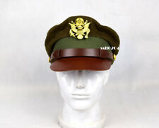 Replica WW2 US Army Air Force AAF Cushion Pilot Officer Crusher Cap with Badge