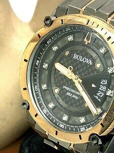 Bulova Men's Watch Precisionist 98D149 Diamond Dial Two Tone FOR REPAIR PARTS