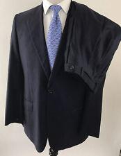 Daniel Cremiux Suit By Isaia Super 160s Blue Stripe Men's Sz 42L Pants(36X30)