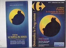 Tintin. Livret pour le spectacle musical LE TEMPLE DU SOLEIL. Charleroi 2002