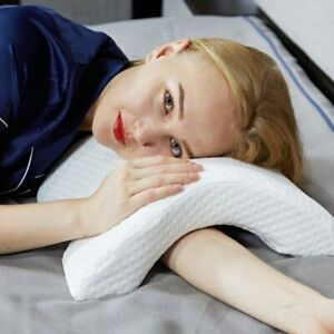 Arm Rest Hand Pillow U-Shaped Curved Memory Foam Sleeping Neck Cervical Pillow