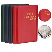 120 Coin Collection Holders Storage Collecting Money Penny Pockets Album Book LE