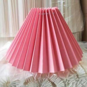 Pleated White Light Lampshade Cover Japanese Style Fabric Table Ceiling 25