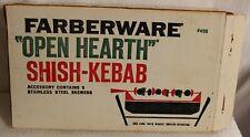 VINTAGE FARBERWARE OPEN HEARTH SHISH KEBAB SKEWERS # 456 IN ORIG BOX