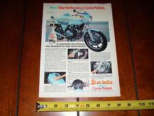1978 KAWASAKI Z1R STARBRITE  ***ORIGINAL AD*** KZ1000   Z-1R