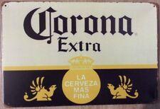 CORONA  Garage Retro Bar Pub Tin Metal Sign Rustic Look . MAN CAVE  . AU SELLER