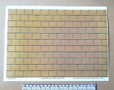 1/12th dolls house yellow roof tile self adhesive vinyl - A4 sheet (297x210 mm)