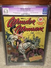 Wonder Woman #1 CGC 6.5 DC 1942 Holy Grail! WHITE Pages! Movie! (R) F12 125 cm