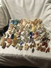 Over 60 Antique And Vintage Nostalgia Miniature Victorian Shoes Collection