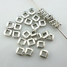 100pcs Tibetan Silver Square Charm Loose Spacer Beads 2x5mm Jewelry Findings