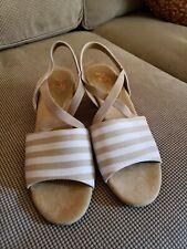 WOMEN'S Shoes Sz 9M A2 Aerosoles HEELREST Wedge Espadrille Canvas Stripe SANDAL