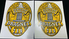 2 Large 4  1950  s   DRAGNET  Sergeant Friday Pedal Car Decal Lot Angelus Pacific