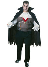 Vampire Plus Size Adult Halloween Costume Scary Horror Dracula Fits To 50 Jacket