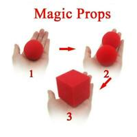 Magic Props 1 Block 2 Sponge Balls Illusion Tricks Red Magic Toy