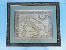 1626 ITALIA MAP~ART PRINT by GEORGE HUMBLE~FRAMED by A.C.MOORE/USA~NEAR PRISTINE