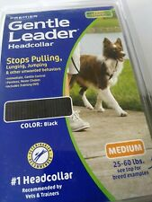 Gentle Leader Headcollar  with DVD ~MEDIUM Up To 25-60lbs   Color: Black