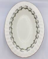 "Minton 10"" Oval Vegetable Bowl Ermine Bone China"