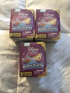 3 × NEW SHOPKINS HAPPY PLACES MINIATURE DECOR DISNEY