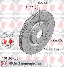 Disque de frein avant ZIMMERMANN PERCE 400.3629.52 MERCEDES-BENZ CLASSE C W203 C