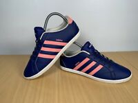 ADIDAS NEO SHOES WOMENS VS CONEO QT BLUE COMFORT WEDGE TRAINERS B74552 SIZE UK 6