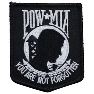 """POW MIA Patch - Prisoner of War, Missing in Action, Not Forgotten 3"""" (Iron on)"""