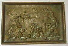 VIDE POCHE en BRONZE doré XIXème Jean Denis LARUE décor d' AMOURS ange chérubin