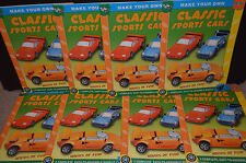 Lot of 8 Make Your Own Classic Sports Cars  P3 Publishing Brand New