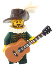 NEW LEGO TROUBADOUR MINIFIG castle figure minifigure singing poet lute guitar