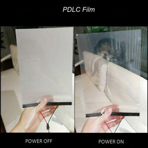 10cm*10cm White to Opaque PDLC Electric Switchable Glass Film Smart Window Tint