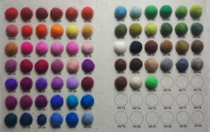1000 Pom Pom Felt Balls choose colors Jewelry making woolen beads supplies DIY