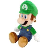 """Super Mario Bros Green Luigi Plush Soft Toy - 8"""" Sanei Japanese Nintendo"""