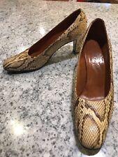 Vintage Rosina Ferragamo Schiavone Caribe Madrid Snakeskin Pumps Heels sz 9 M